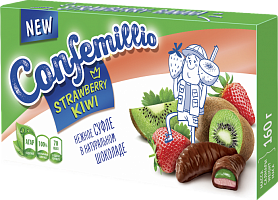 Sweets TM Confemillio with kiwi and strawberry flavors